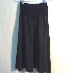 Vintage Slip Midi Size Large Medium Black Lace
